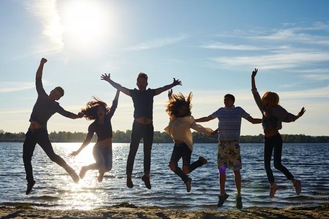 海辺で青春